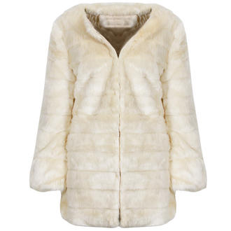 View Item Cream Faux Fur Coat